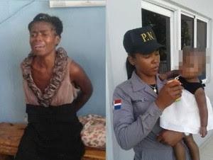Resultado de imagen para policia detiene haitiana al tratar de matar su hija