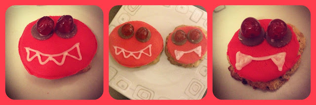 red nose day monster cookies