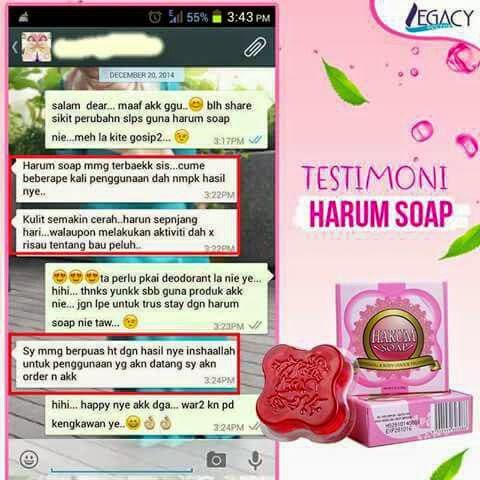 testimoni harum soap