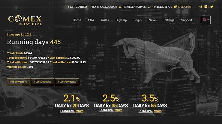 444 дня работы Comex Trades