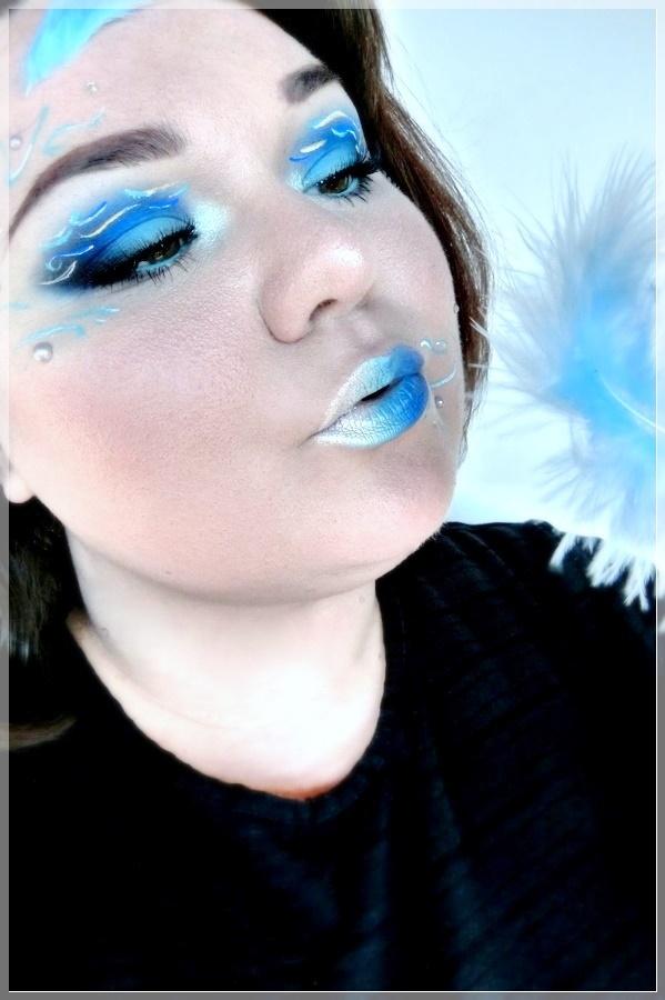 Makeup mit Federn