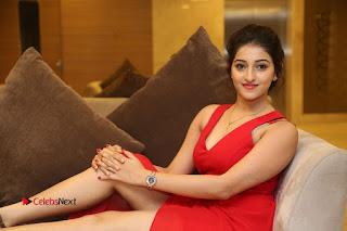 Actress Mouryani Stills in Red Dress at Intlo Deyyam Nakem Bhayam Trailer Launch  0313