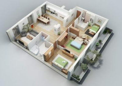 Koleksi Rumah Minimalis 1 Lantai 3 Kamar
