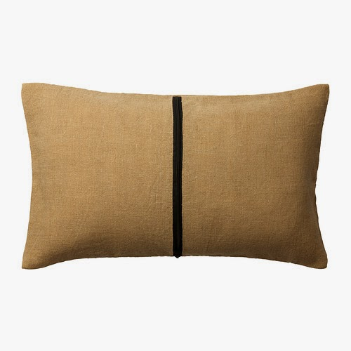 Ikea Helgonort jute pillow cover to use as map coordinate pillow cover