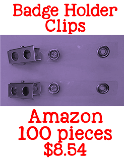 badge holder clips, Amazon, teacher tools