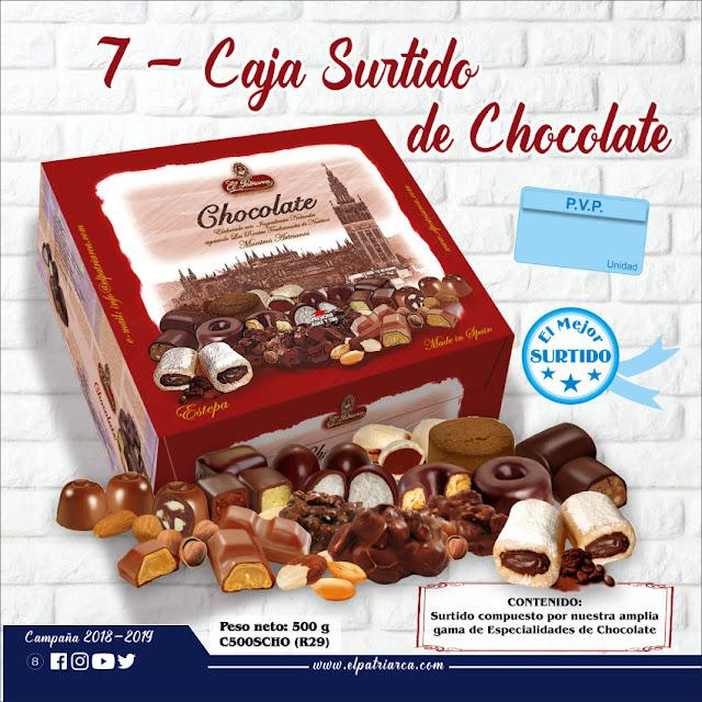 Caja Imantada Surtido Chocolate 500 g El Patriarca - Comercial H. Martín