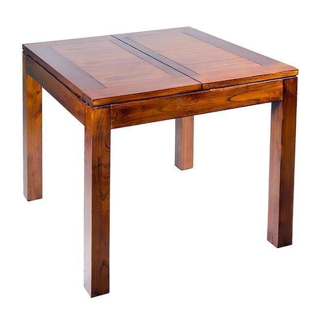 Mesas de comedor 5 mesas cuadradas de madera for Mesas cuadradas para comedor