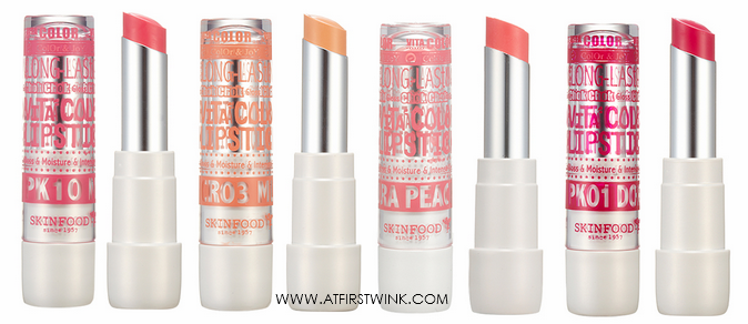 skinfood vita color lipsticks