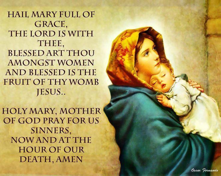 Image result for hail mary full of grace prayer