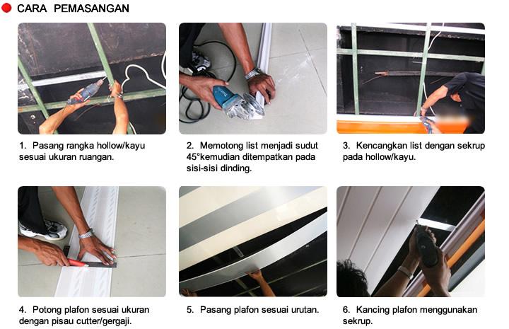 Harga Baja Ringan Daerah Bogor Shunda Plafon Pvc: Cara Pemasangan