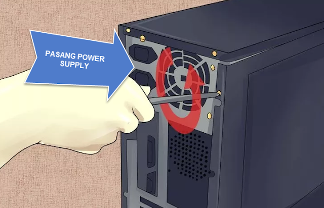 Pasang PSU atau Power Supply Unit kedalam Cashing
