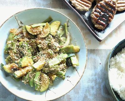 Zucchini, Beans, & Onion Japanese Style