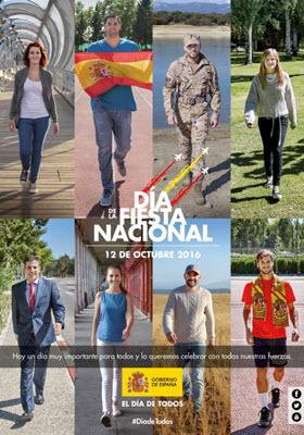 Desfile Fiesta Nacional, 12 de octubre de 2016. Secuencia de actos