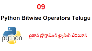09 Python Bitwise Operators Telugu