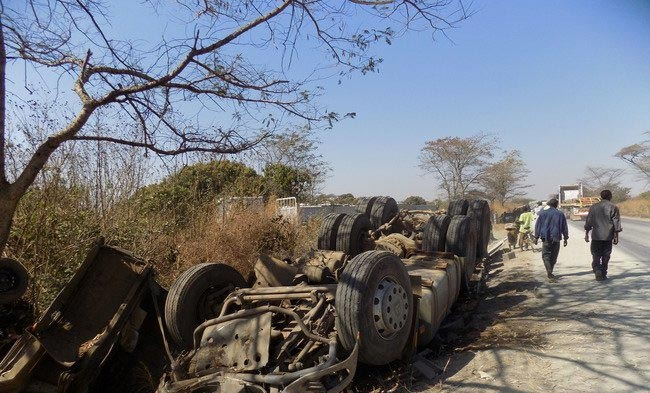 8 dead as Dangote Cement truck crushes several vehicles in Zambia