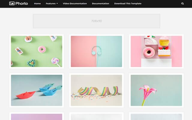 Template chia sẻ ảnh đẹp và đơn giản cho blog