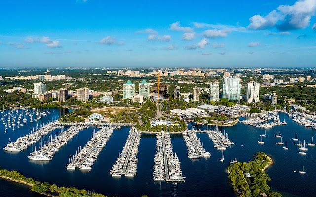 Bairro Coconut Grove em Miami