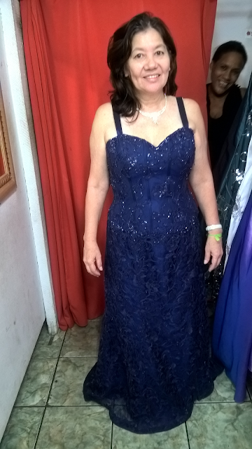 Rose Noivas Cubatão, Rose Noivas, aluguel de roupas, alugar roupas, festa, noivas, cubatão, vestido longo, vestido azul, look
