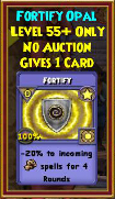Fortify - Wizard101 Card-Giving Jewel Guide
