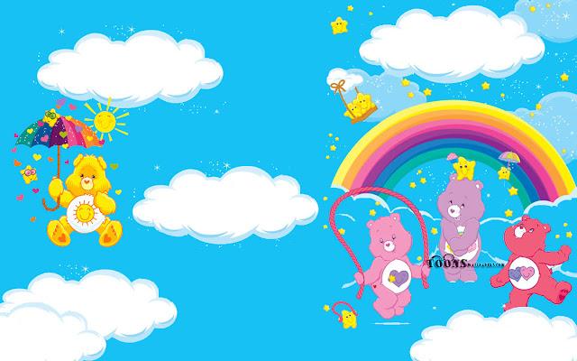 Papel De Parede Cartoon: Super Kuka: Papel De Parede Ursinhos Carinhosos