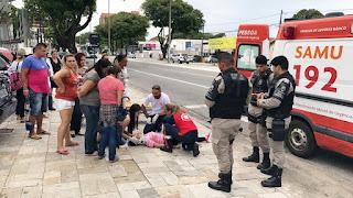 Mulher é atropelada por táxi ao passar em faixa de pedestre em João Pessoa