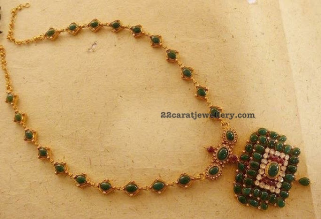 Medium Size Pota Emerald Necklace