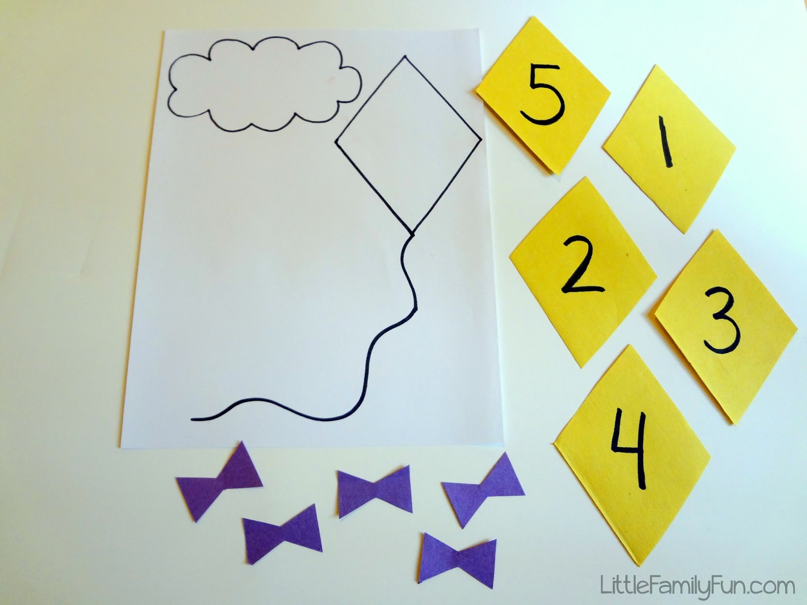 Little Family Fun Kite Counting Math Activity For Preschoolers