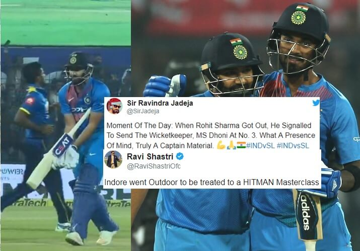 Twitter explodes to Rohit Sharma's sensational century a