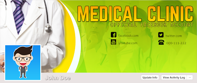 Download FREE PSD Facebook Timeline Cover design for Hospital and Doctor Free for Personal and Commercial use