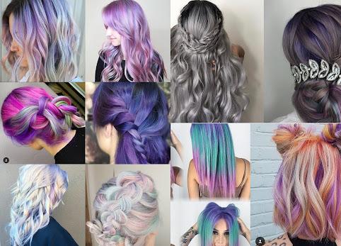 Kolorowe włosy. Kolorowe farby do włosów - trendy 2017. Włosy turkusowe, włosy różowe i fioletowe - Zdjęcia i inspiracje.