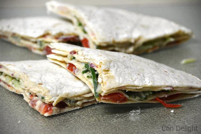 טורטיית ירקות לבית הספר school veggie sandwich