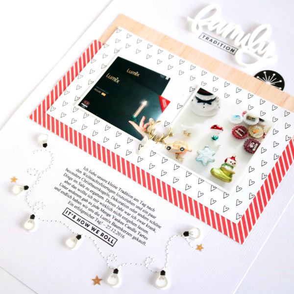 Family Tradition | Scrapbooking Layout | Felicity Jane