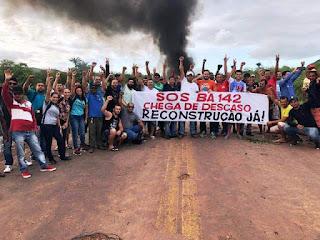 Governo nota após manifestação na BA-142