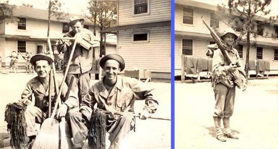World War II men in basic training, Fort Bragg, NC