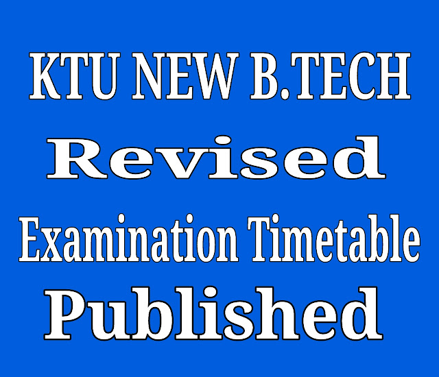 New ktu revised timetable