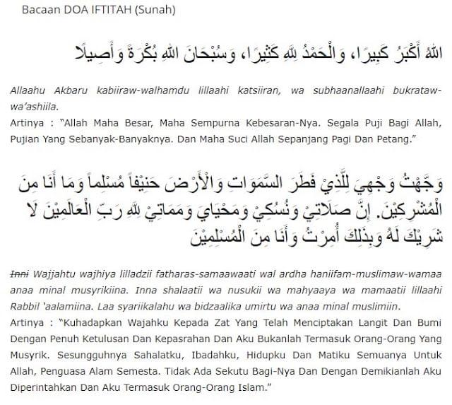 tata cara sholat terlengkap, doa iftitah, 0852-2765-5050, grosirsajadah.id