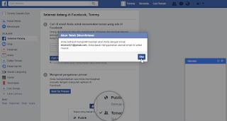 Berhasil Konfirmasi Akun Facebook