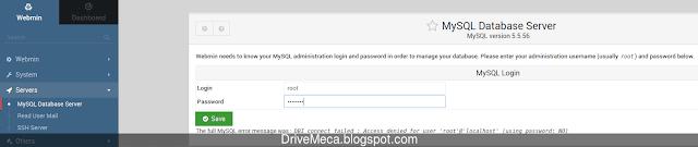 Escribimos los datos de la cuenta root de MySQL / MariaDB