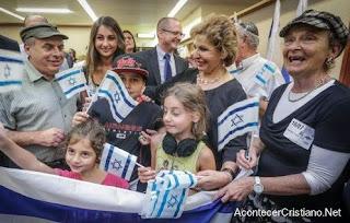 Judíos franceses llegando a Israel
