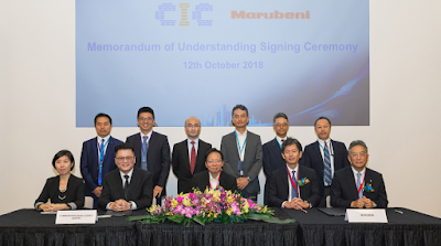 Source: CIC. Supported by Zall, GeTS and SGX in Singapore, the MOU signing was witnessed by Iwasa San, MD, Marubeni ASEAN, and Sharon Chou, CFO, CIC at the official launch of the CIC platform.