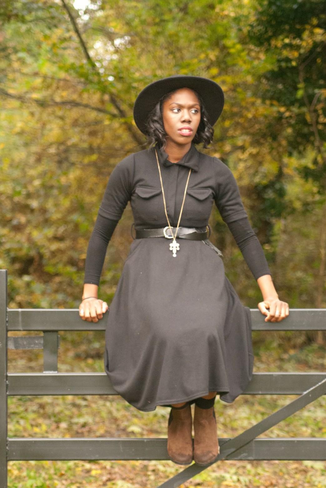 Boohoo black midi dress, fryent country park, fashion blogger, 100 Ways to 30, Style & Fashion