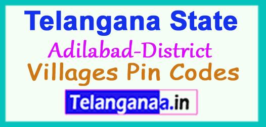 Adilabad District Pin Codes in Telangana State
