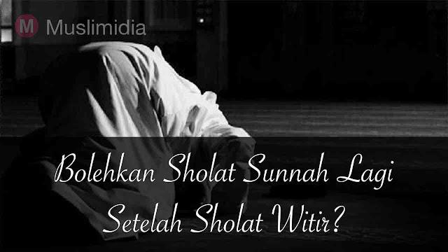 sholat sunnah setelah sholat witir