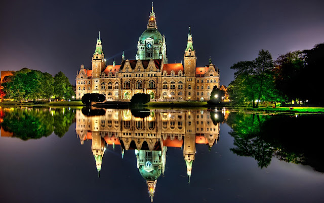 Hannover Wonderful New Town Hall Germany HD Desktop Wallpaper