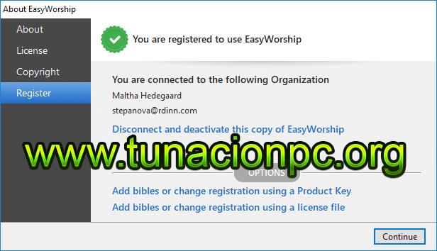 EasyWorship con Licencia y Serial