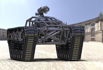 Robot Tempur The Ripsaw MS1 UGV