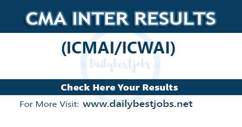 CMA Inter Result 2018