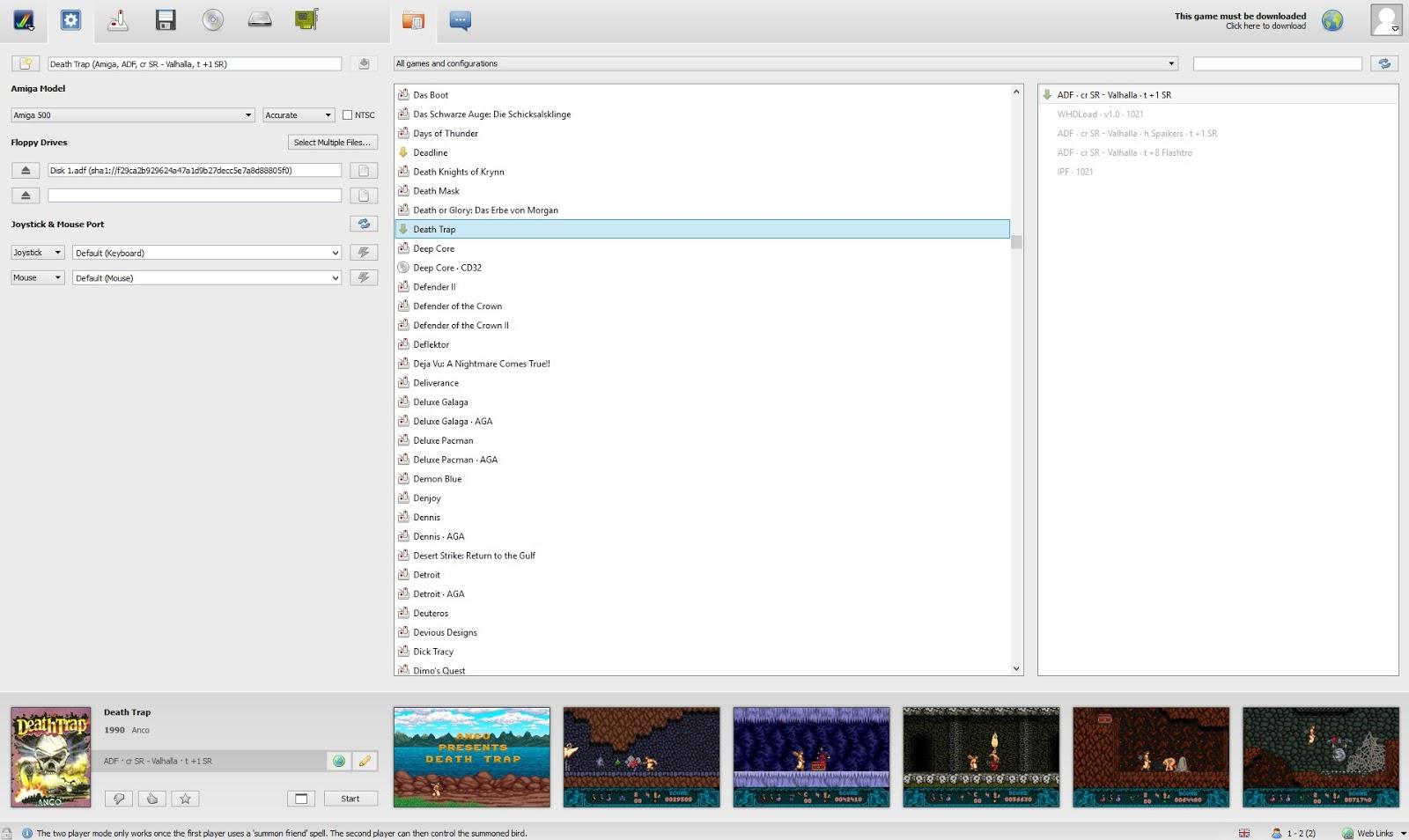 Indie Retro News: FS-UAE 2 4 0 - The best all round Amiga Emulator