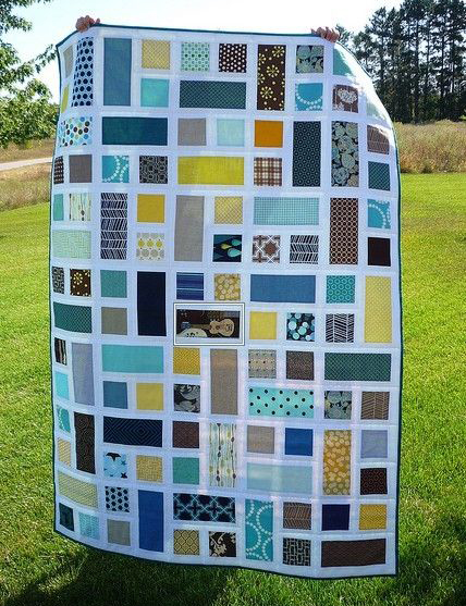 Rectangle Squared Quilt Free Tutorial designed by Ashley of Film in the Fridge
