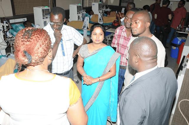 African Delegates Visit Sarvagnanagar Dialysis Centre in Bengaluru